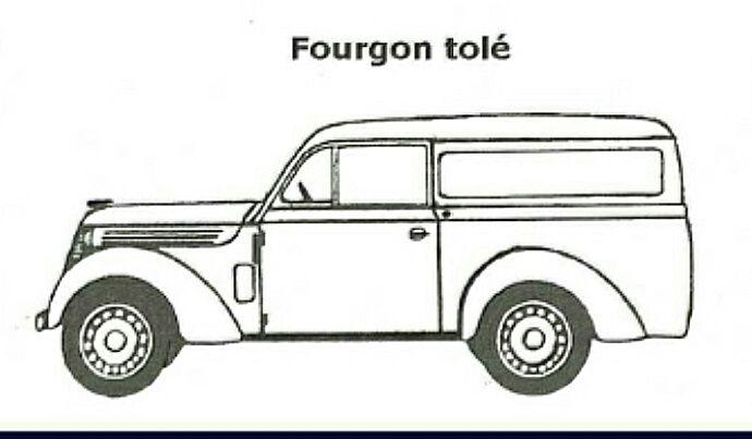 Fourgon tolé