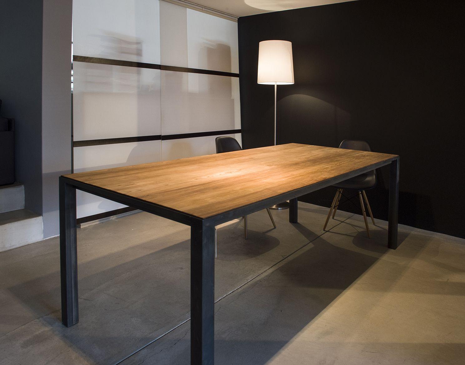 Tisch Mit Industrie Eisengestell Haus Deko Tisch Inneneinrichtung