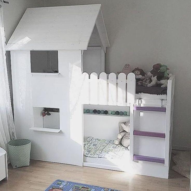 Lit ikea transforme en cabane chambre enfant pinterest for Rangement chambre enfant pas cher