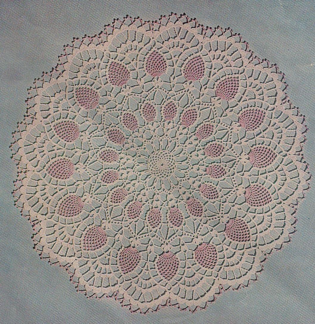 1956 Pineapple Vintage Crochet Doily Pattern by CrochetbyCindy, via ...