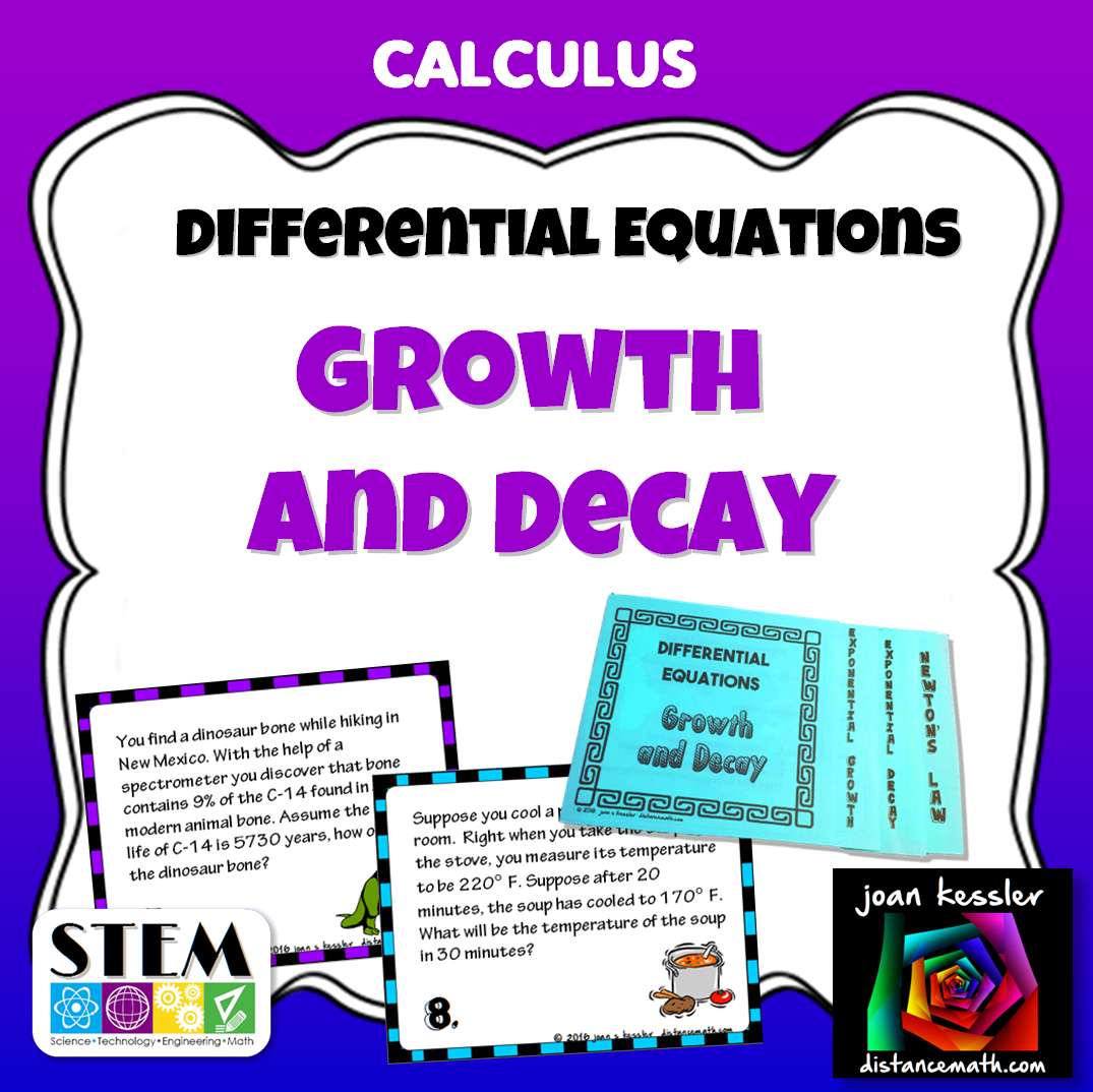 Calculus Differential Equations Exponential Growth And