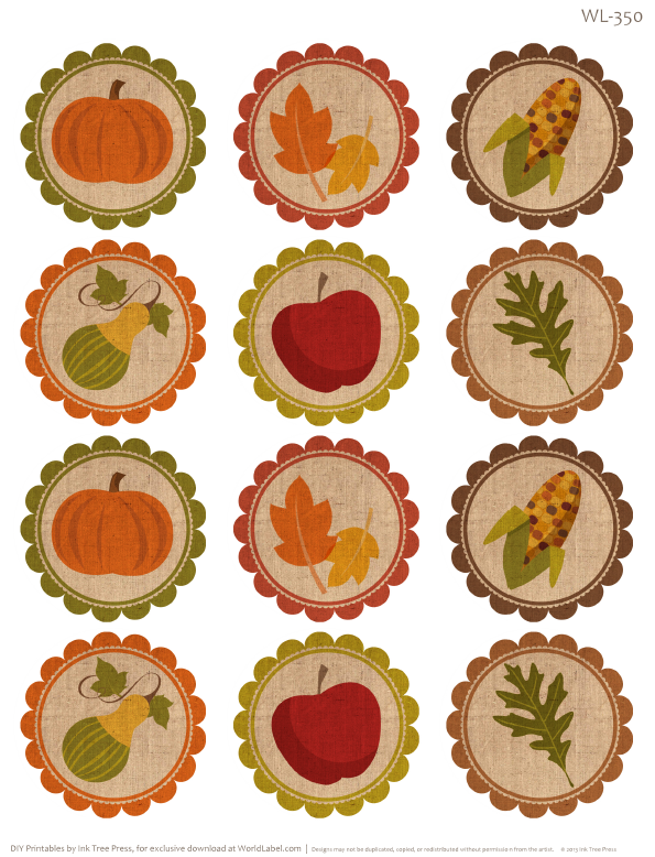Free Fillable and Editable PDF Round labels, part of a