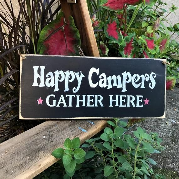 Wooden Camping sign, Happy Campers, Camp Decor, Campsite decoration, Gift for the campers, Wood Sig
