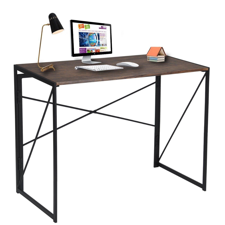 Coavas Klappbar Computer Schreibtisch Buro Schreibtisch Faltbar Pc