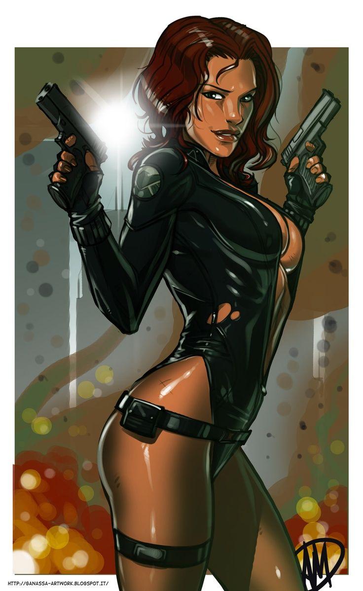 Black widow marvel porn