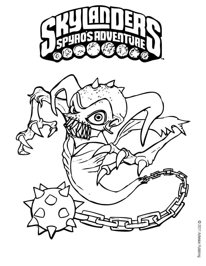 Ghost Roaster Skylander Coloring Page Kids Pinterest Coloring