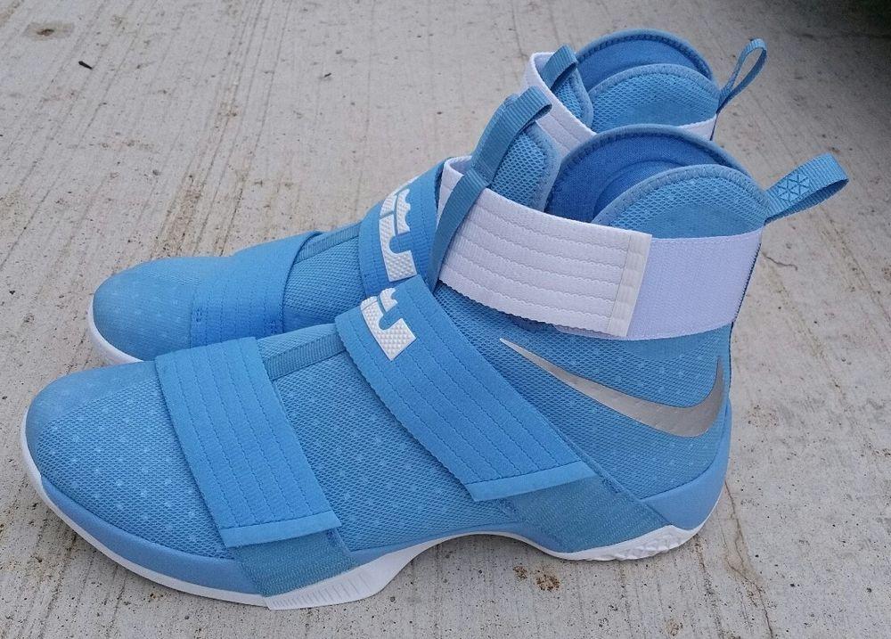 ea521f907e2 NIKE Lebron Soldier 10 TB Promo Size 15 University Blue Silver White 856489- 443  Nike  BasketballShoes