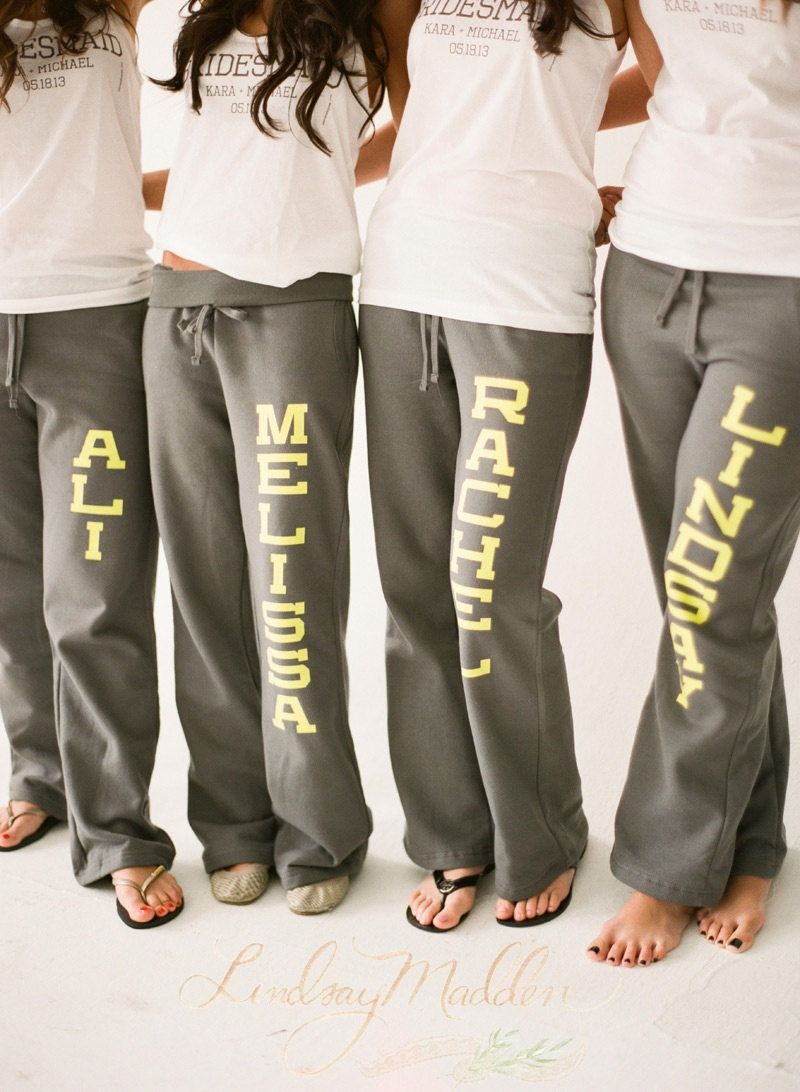 253c88f6c Bridal Party Sweatpants for your bachelorette party or wedding day ...