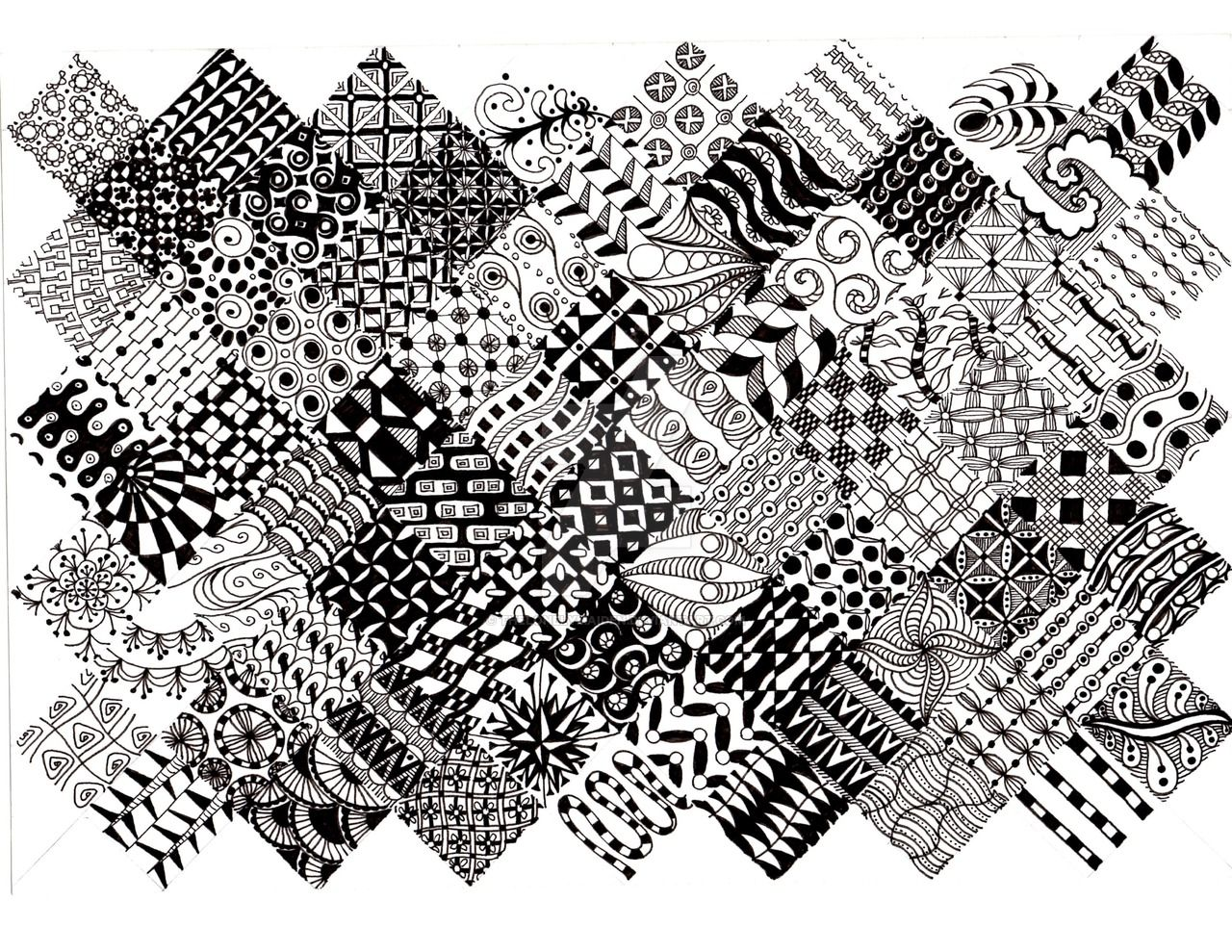 Zentangle Pattern Unique Ideas