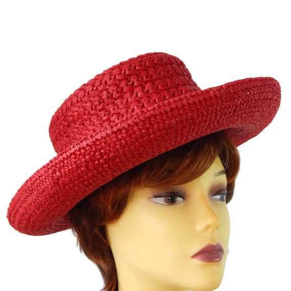 Mad Hatter by Dusty Nees on Etsy. Wide Brim Straw Hat Scala Collection by  EclecticVintager on Etsy Designer ... fc750fcc2cf4