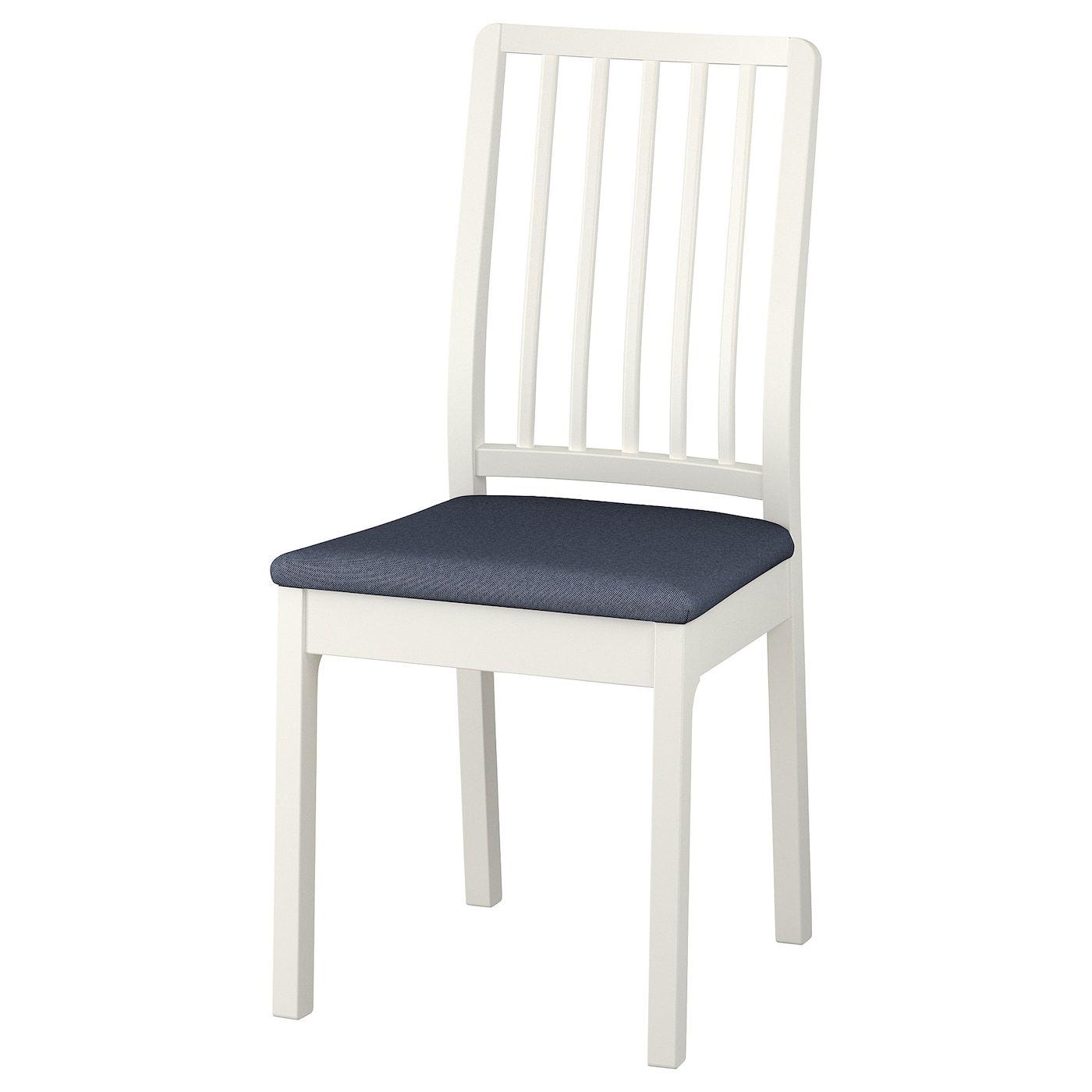 Ekedalen Stuhl Weiss Orrsta Schwarzblau Ikea Esszimmerstuhle