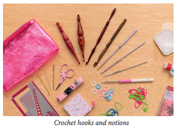 Crochet hooks and notions