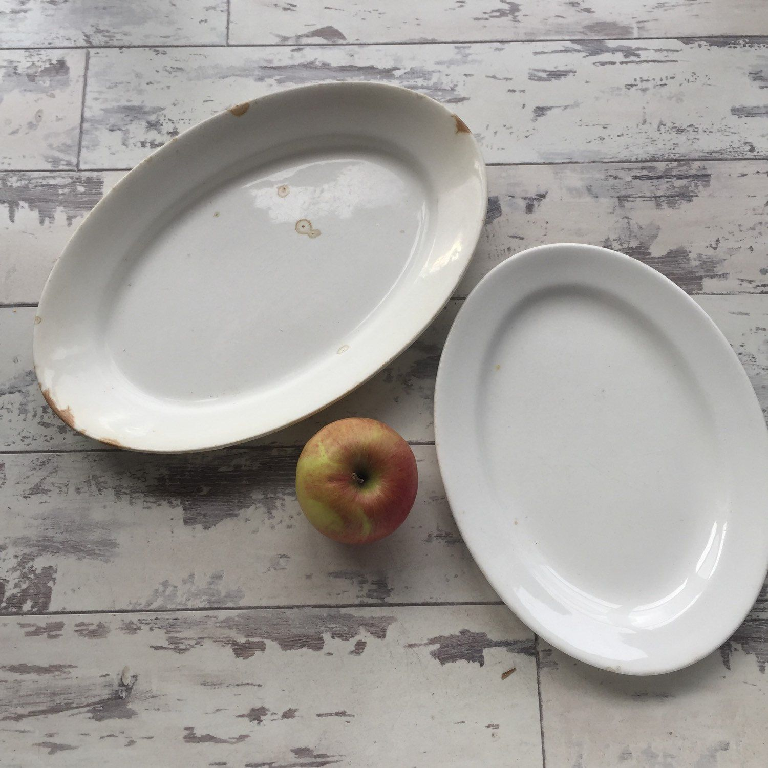 Antique Ironstone Platters - Thompson Stone China -Distressed Vintage by TheClassicButterfly on Etsy