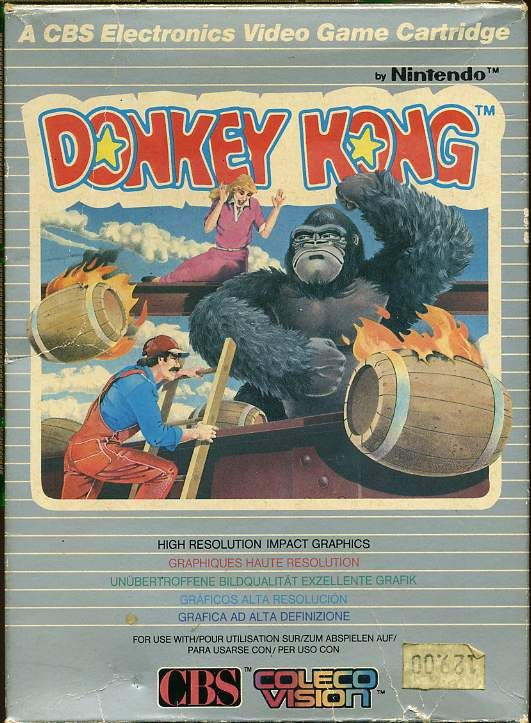 Awesome box art for the Colecovision version of Donkey Kong