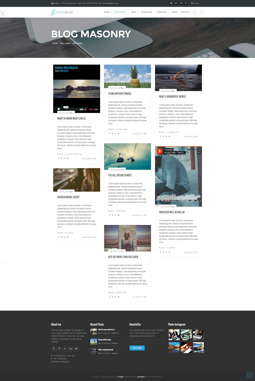 Super Blog Responsive Drupal Theme Drupal Magazine Template Blog Themes