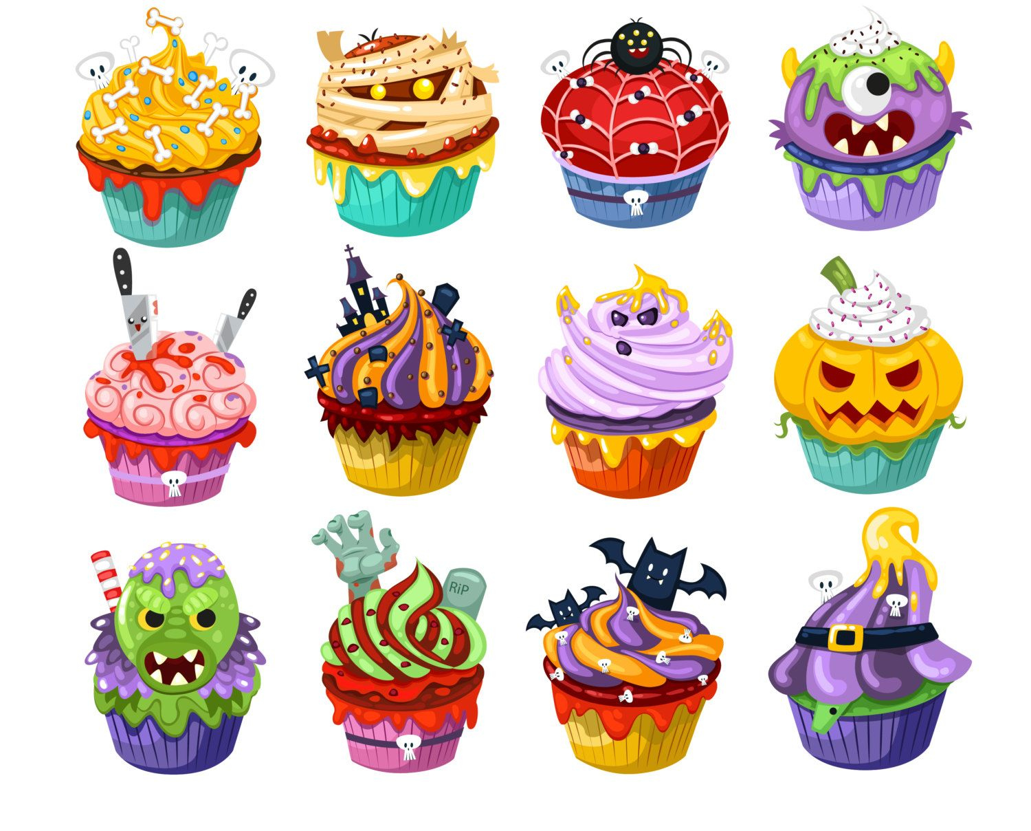 halloween witch cupcake drawing - Yahoo Image Search Results ...