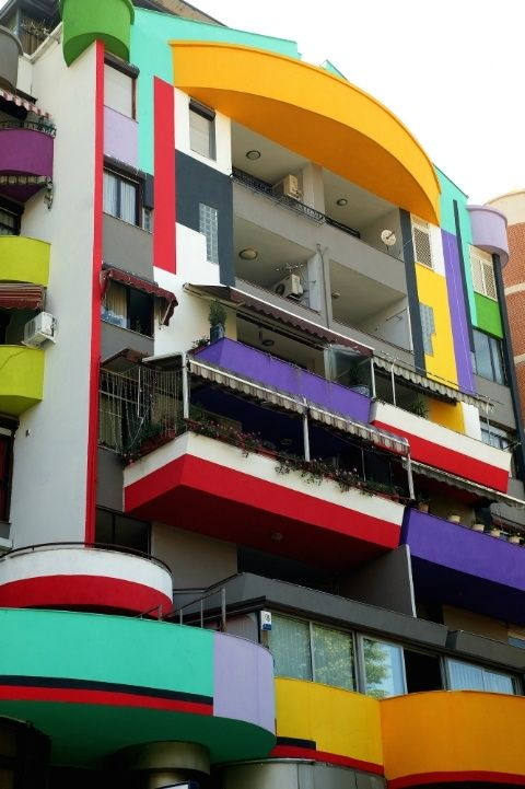 Explore 50 homes around the world with colorful exteriors.