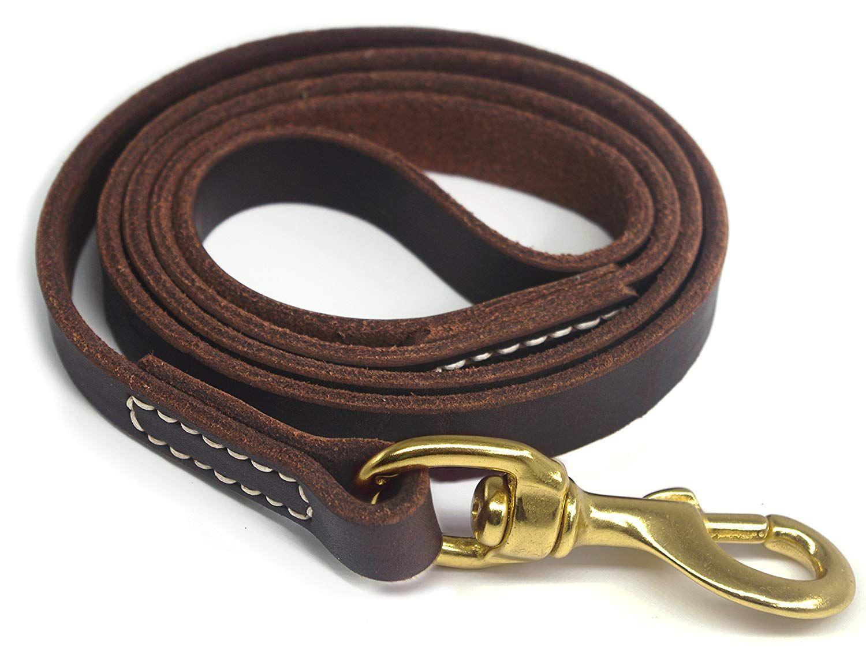 Yogadog Genuine Leather Dog Training Leash 4 6 Ft Length 3 5 Inch