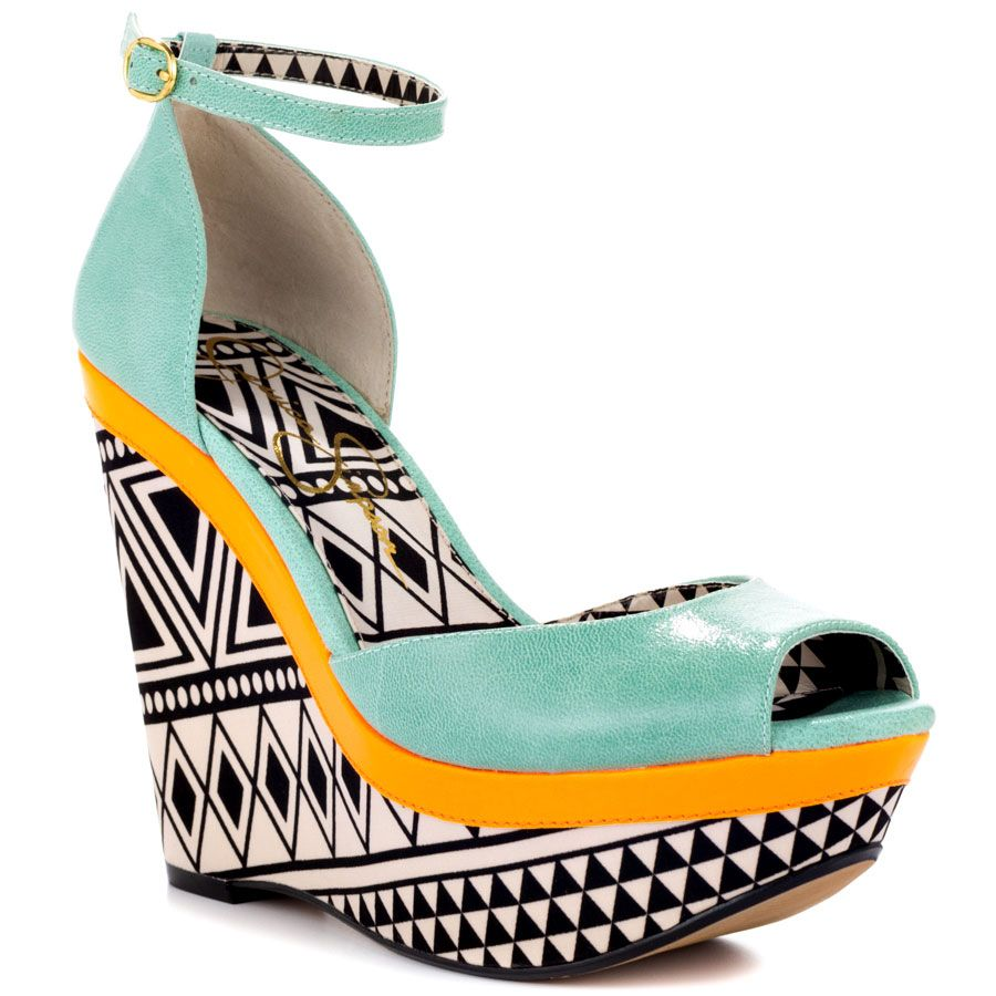 Jessica Simpson's Multi-Color Keira - Pastel Green Jesse Lea for 79.99 direct from heels.com