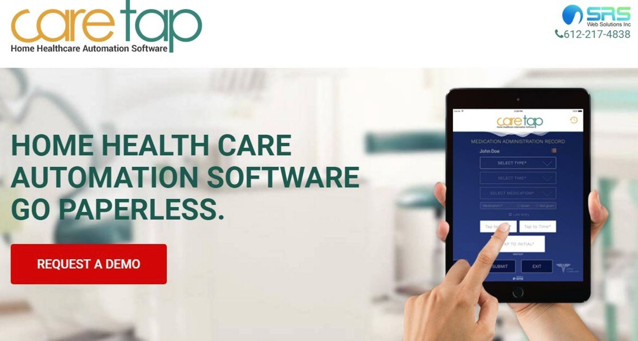 Caretap provides home care agencies with paperless