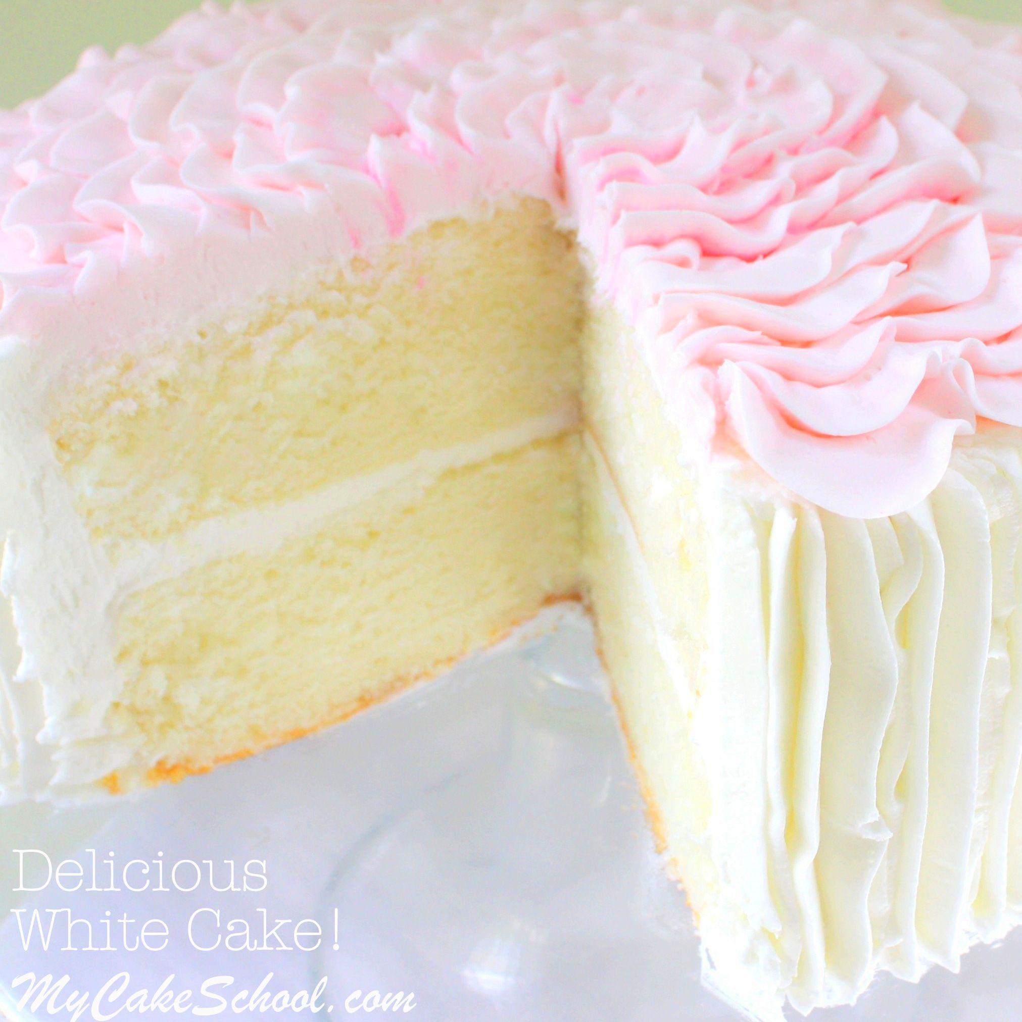 The Best White Cake From Scratch Recipe By Mycakeschool Online Tutorials