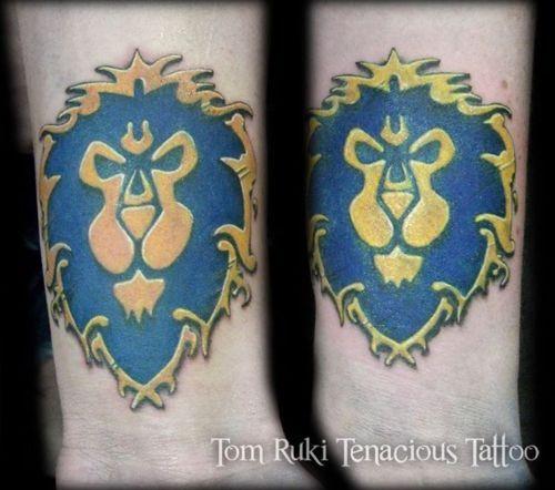 Wow Druid Tattoo World Warcraft Allianc...