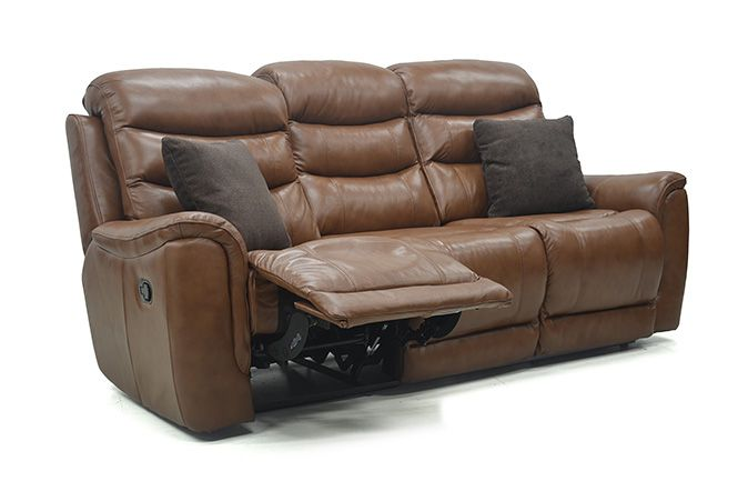 The Loenardo 3 Seater Leather Sofa in high grade Italian leather will provide a focal point in any living room.     High back cushions provide extra head and shoulder support.