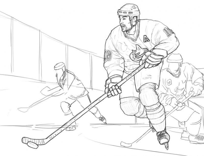 Realistic ice Hockey coloring pages free to print | Sports ...