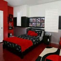 Beeindruckende Rote Farbe Der Schlafzimmer Wände Ideen Die Dekoration Rote  Farbe Schlafzimmer Kann Interessant Sein! Der Planet War Eine Gondwanaland,  Bevo.