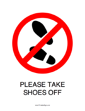 Shoes off please wall sticker
