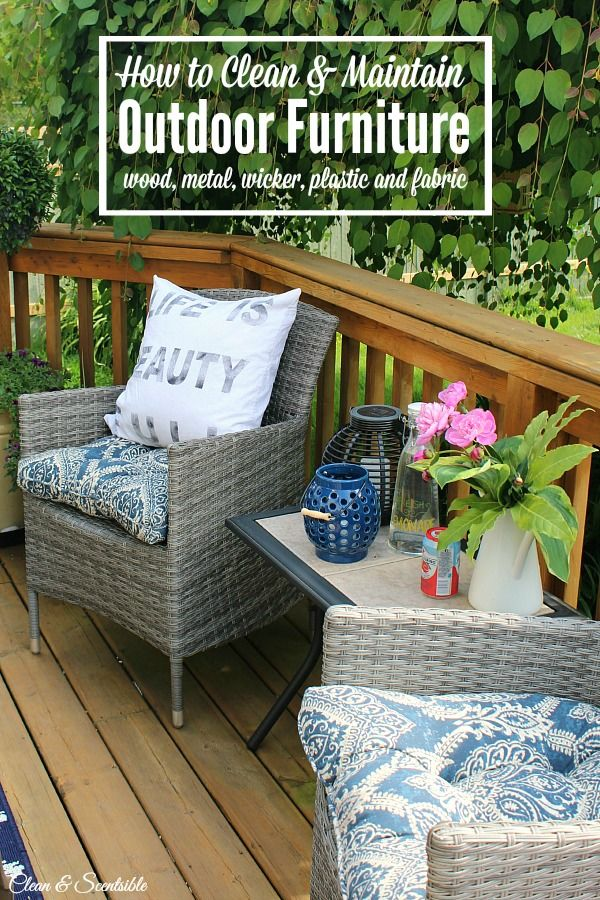 How To Clean Patio Furniture Household Tips And Tricks Diy