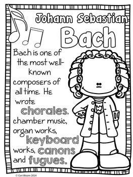 Baroque Composers Coloring And Fact Sheets Music Education