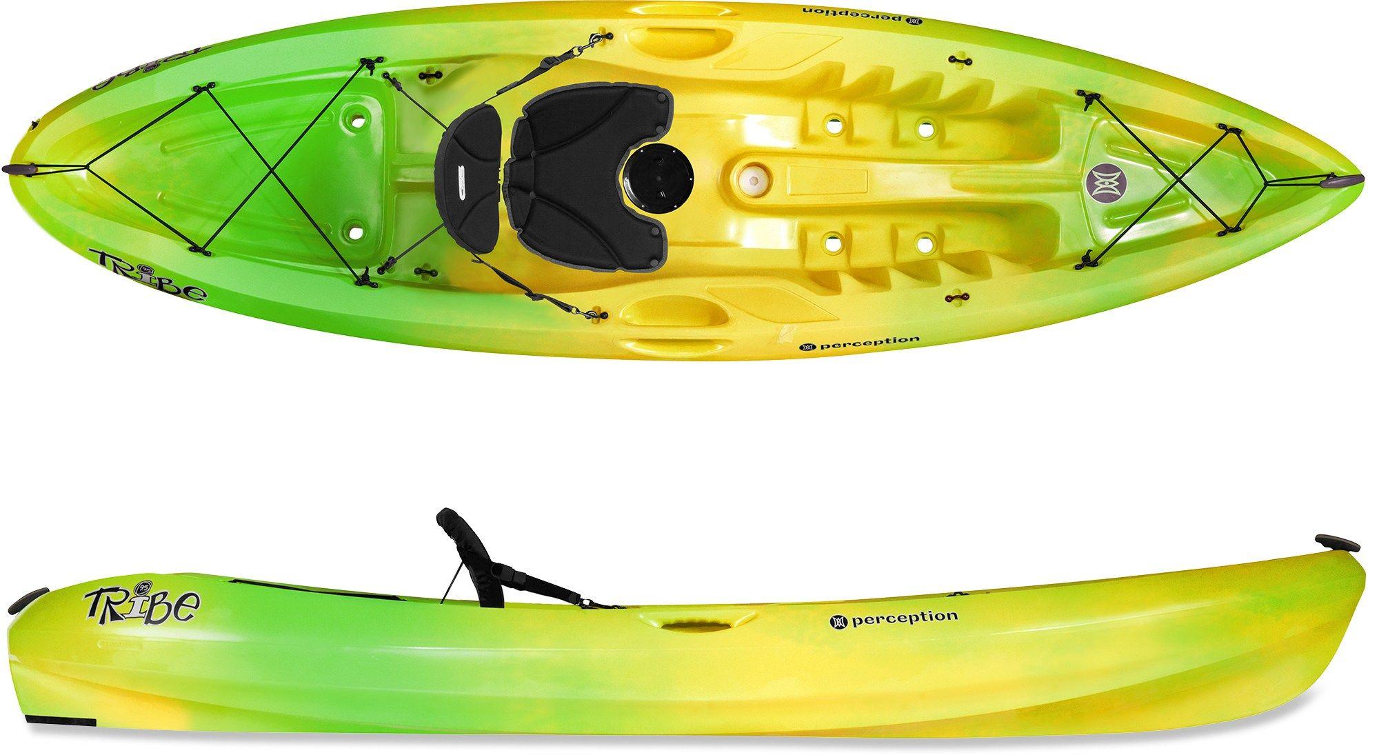 Perception Tribe 9.5 SitOnTop Kayak Sea Spray 9 Ft 5 In