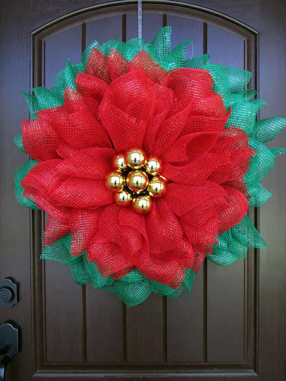 Poinsettia Mesh Wreath Tutorial Christmas mesh wreaths