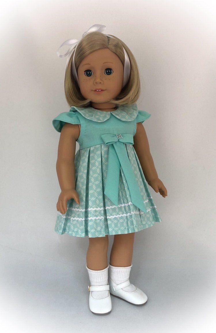 American Girl Doll Clothes, Doll Dress, 18 American Girl Doll Dress, 18 Doll Clothes, Collector Doll - by BringingJoyBoutique #dolldresspatterns