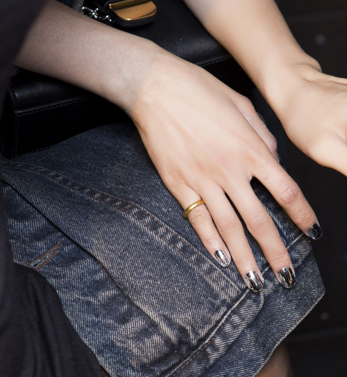 Manicure: trendy wiosna-lato 2015, DSquared2, fot. Imaxtree