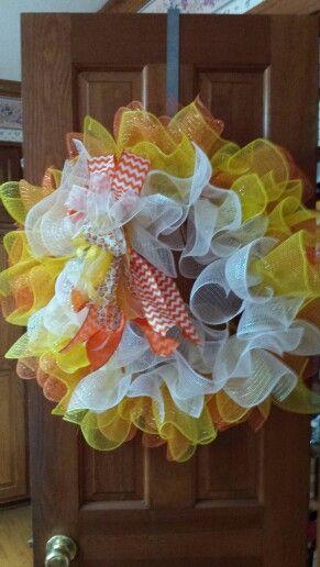 Candy corn wreath