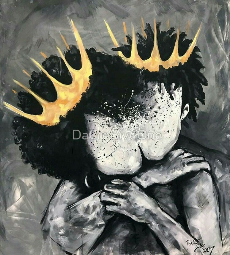 King Queen Black Love Black Art Painting Black Love Art Black Art