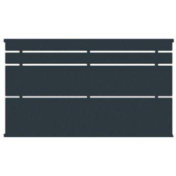 Clôture acier Himalia apprêt gris à peindre, H.86.5 x l.141.5 cm | Leroy Merlin