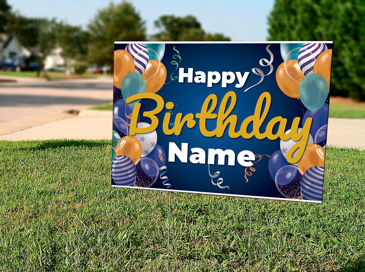 Happy Birthday Personalized Lawn Signs Etsy in 2020