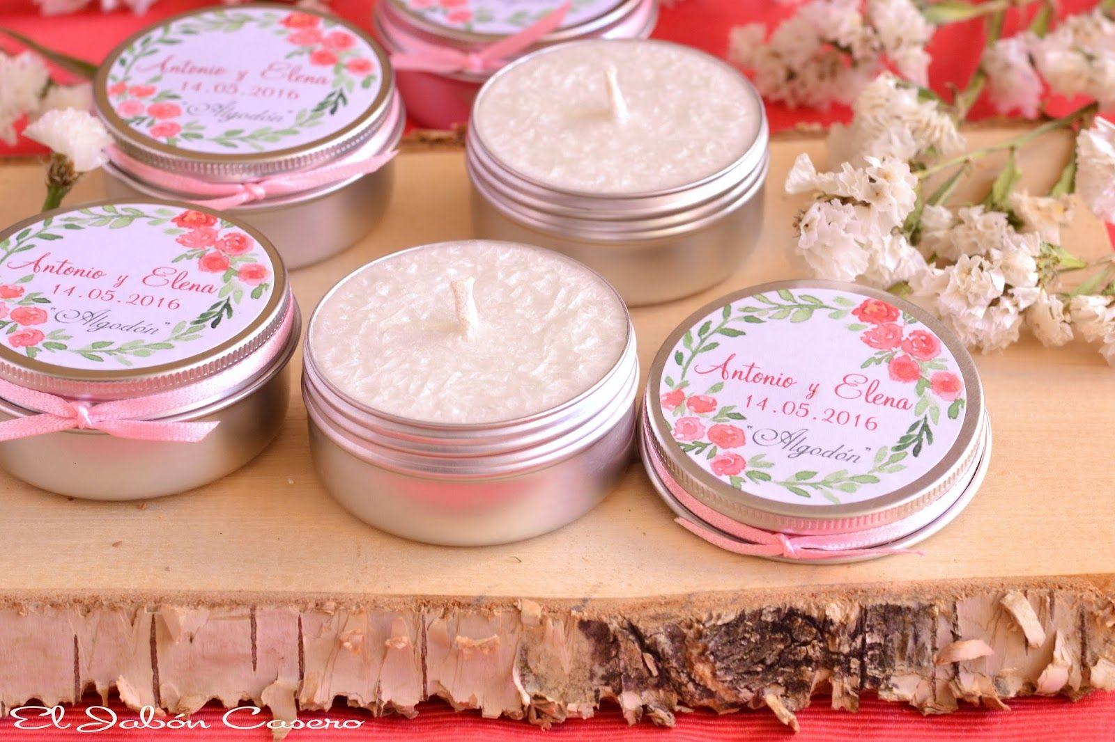 Detalles de invitados bodas velas perfumadas personalizadas ...
