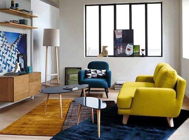 20 salons avec un canapé jaune   Blog deco, Deco design et Place