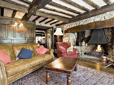 Traditional Living Room With Inglenook Fireplace
