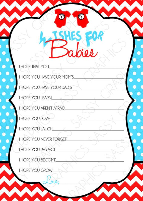 Instant Download Twin Dr Seuss Wishes For By Sassygraphicsdesigns