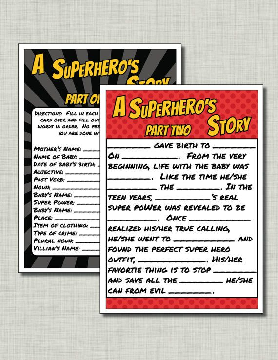 Superhero Baby Shower Games Coed Baby Shower Games Couples Shower