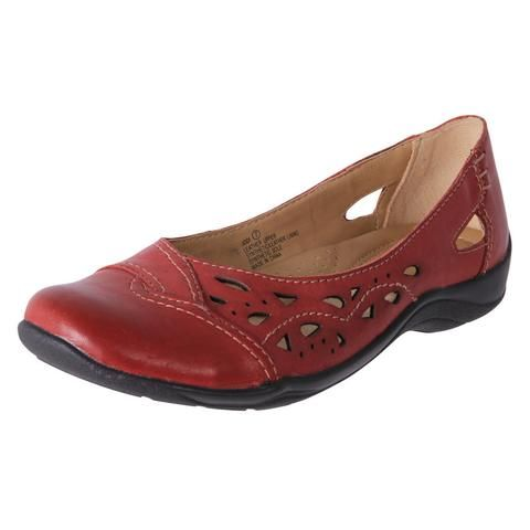 cheap regal red leather casual ballet flat jodi from