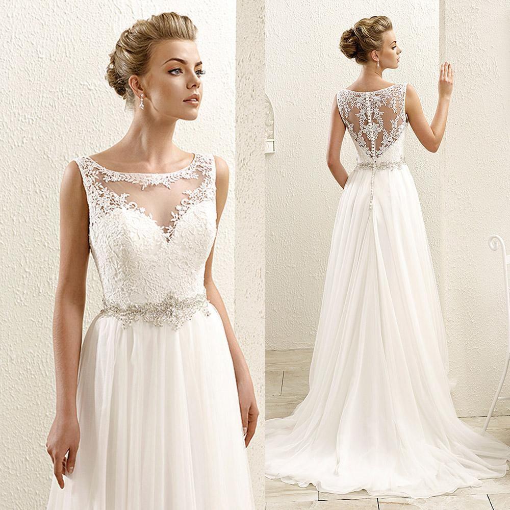 Bohemian White Boho Plus Size Wedding Dresses Lace