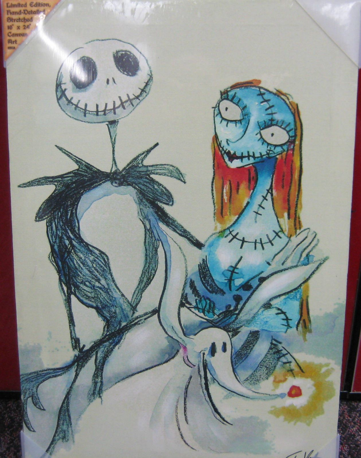nightmare before christmas Canvas Art – Jack and Sally , and pumpkin ... Nightmare Before Christmas Pumpkin Patch Drawing