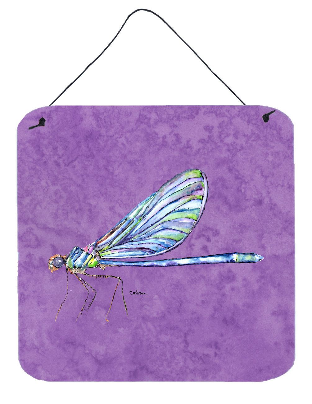 Dragonfly on Purple Aluminium Metal Wall or Door Hanging Prints