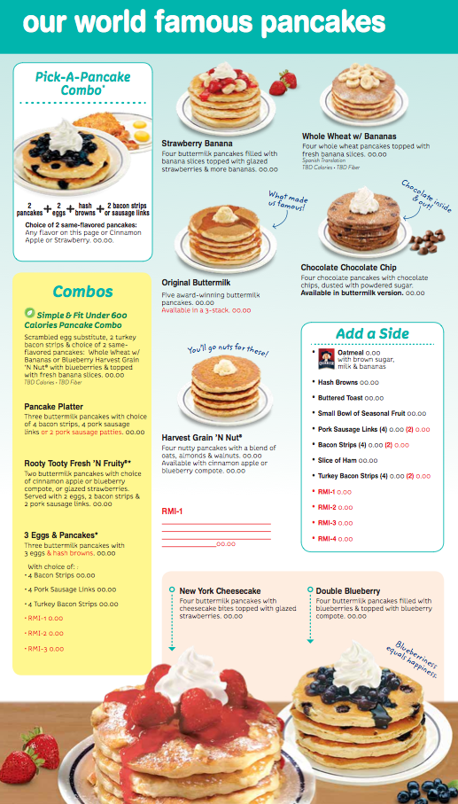 Ihop Posted The Best Sales In A Decade By Making 3 Major Changes To The Menu Ihop Pancake Calories New Menu